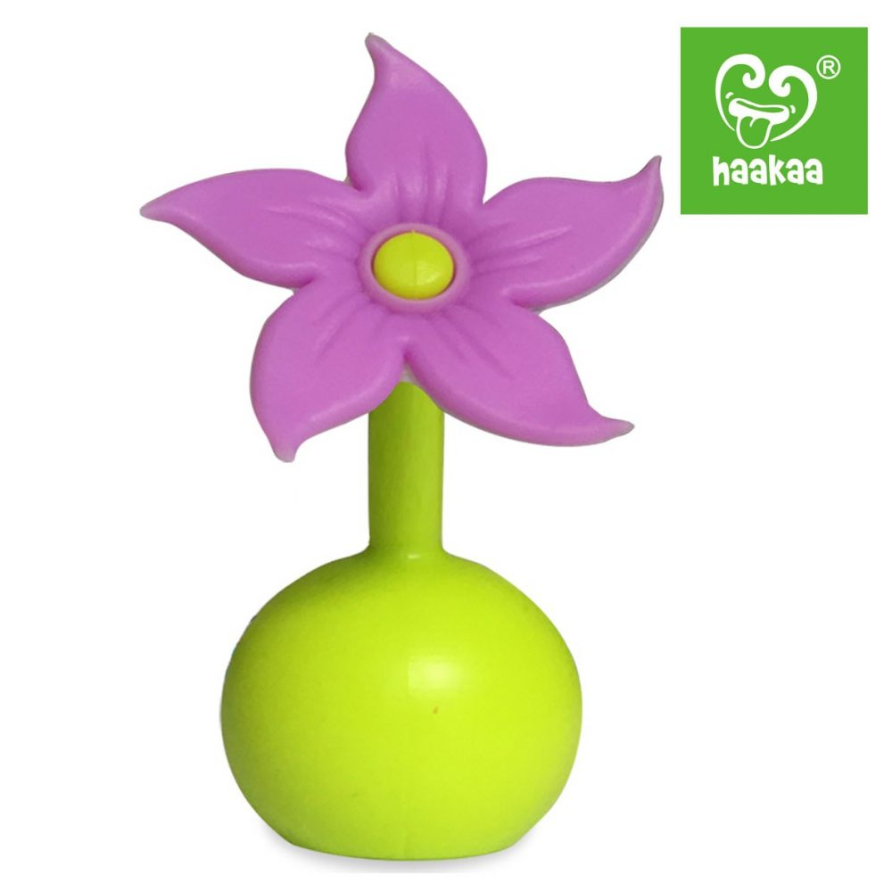 haakaa-silicone-breast-pump-flower-stopper-purple