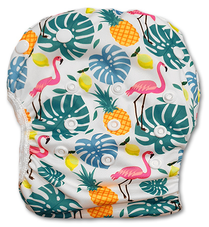 sw064_flamingos_pineapples_swim_nappy